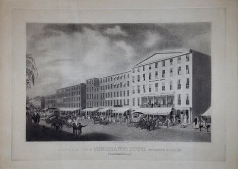 James Rubens Smith (1775-1849), Engraver, A South East View of Merchants Hotel…