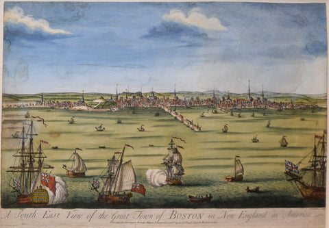 John Carwitham (British, active ca. 1723–41),   A South East View of the Great Town of Boston in New England in America