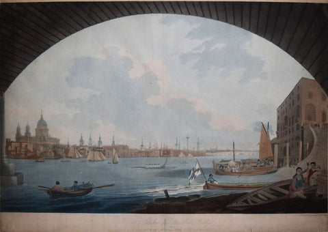 John William Edy[e] (1760-1820), A View of London from Blackfriars Bridge