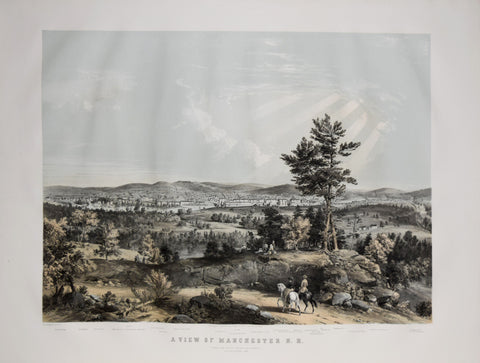 J. B. Bachelder,  A View of Manchester, N. H., composed from Sketches taken near Rock Raymond by J. B.