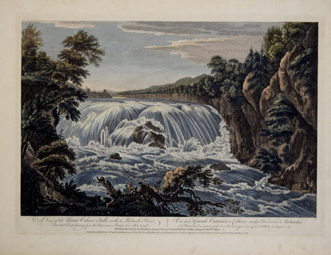 Thomas Pownall (1722-1805) & Paul Sandby (1731-1809), after,  A View of the Great Cohoes Falls on the Mohawk River...