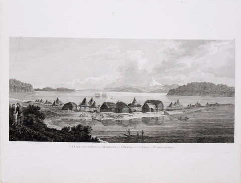 Captain James Cook (1728-1729) and John Webber (1751-1793), A View of the Town and Harbour of St Peter and St Paul in Kamtschatka