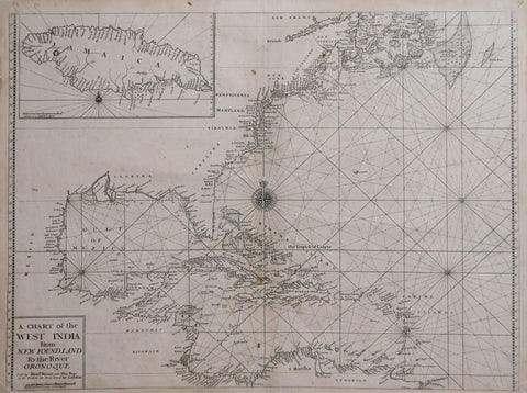 Richard Mount (1654-1722) & Thomas Page (fl. 1700-1733), A Chart of the West India from New Foundland to the River Oronoque