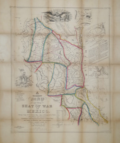 Joseph Goldsborough Bruff (1804-1889), A Correct Map of the Seat of War in Mexico...