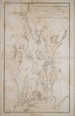Samuel Lewis (1753-1822), A Map of part of Rhode Island Shewing the Positions of the American and British Armies at the Siege of Newport..1778