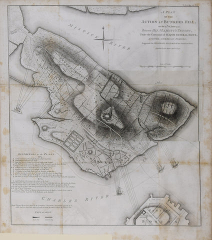 William Faden (English, 1749-1836), A Plan of the action at Bunkers Hill on the 17th of June 1775...