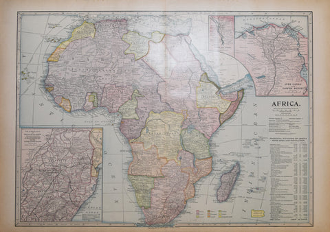 J. Martin Miller, Africa…[with three inset maps: Cairo and Vicinity, Suez Canal…, Transvaal and Orange River Colony…]