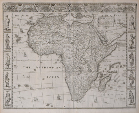 John Speed (English, 1552-1629), Africae, described, the Manners of their Habits and Buildings…