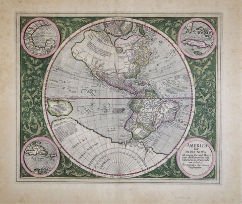 Michael Mercator (German, ca. 1567-1600), America sive India Nova ad magnae Gerardi Mercatoris...