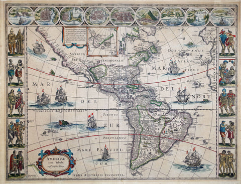 Willem Janz Blaeu (Dutch, 1571-1638), America Nova Tabula