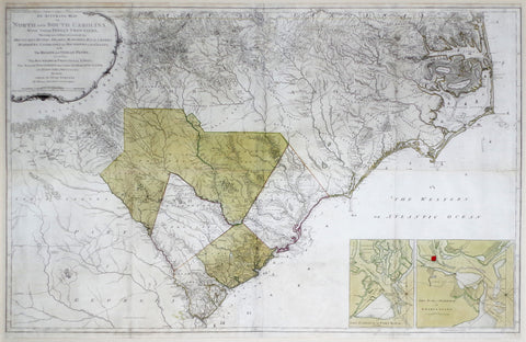 Henry Mouzon (1741-1807), An Accurate Map Of North And South Carolina...