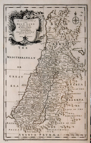 Emmanuel Bowen (British, 1696-1767), An Accurate Map of the Hoyland divided into the XIII  Tribes of Israel…