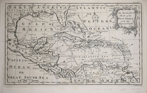 Gentleman's Magazine, An Accurate Map of the West Indies with the Adjacent Coast