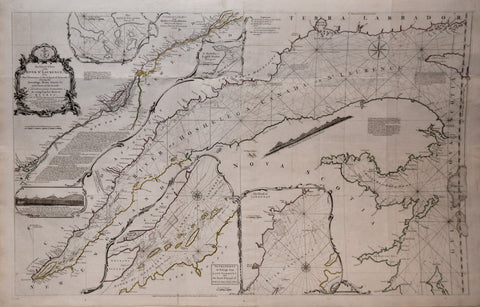 Thomas Jefferys (English, ca. 1719-1771), Exact Chart of the River St. Laurence from Fort Frontenac to the Island of Anticosti...