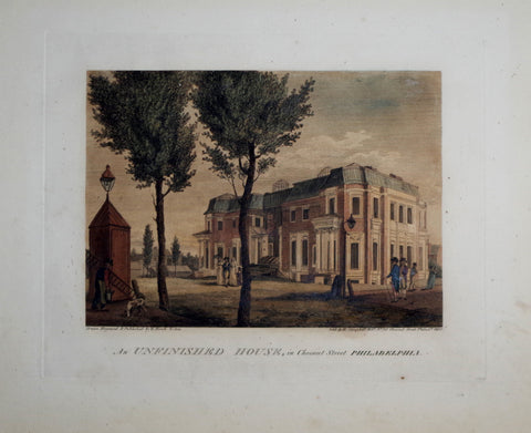 William Birch (1755-1834),  An Unfinished House, Chestnut Street Philadelphia