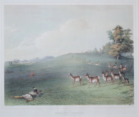 George Catlin (1796-1872), Antelope Shooting