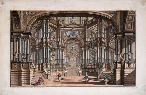 Vue d'Optique, [Fantastical Architecture Scene- Theatre Set]