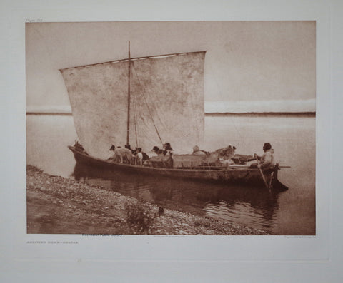 Edward S. Curtis (1868-1953)  Arriving Home Pl 715