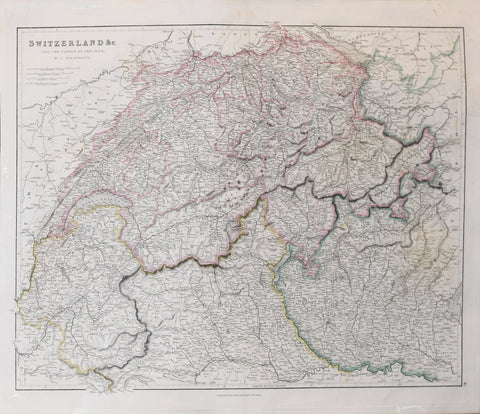 John Arrowsmith (1790-1873), Switzerland & C., and the Passes of the Alps