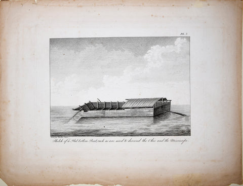 George Henri Victor Collot, Sketch of a Flat Bottom Boat...