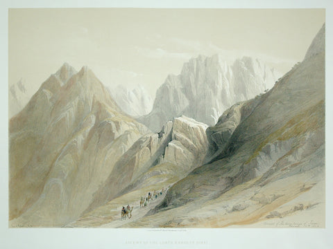 David Roberts (1796-1864), Ascent of the Lower Range of Sinai