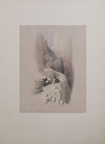 David Roberts (1796-1864), Ascent to the Summit of Mount Sinai
