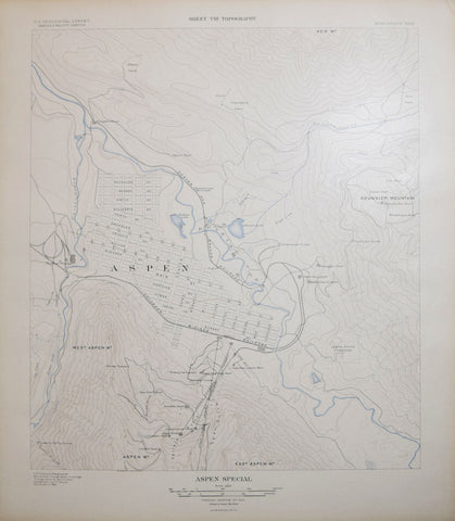 United States Geological Survey, Aspen Special. Sheet VIII Topography