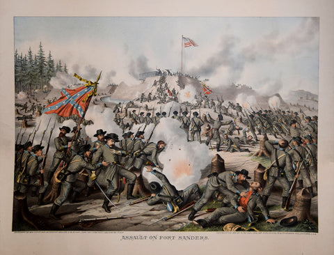 Louis Kurz  (1834-1921) & Alexander Allison (ca. 1799—1862) , Assault on Fort Sanders
