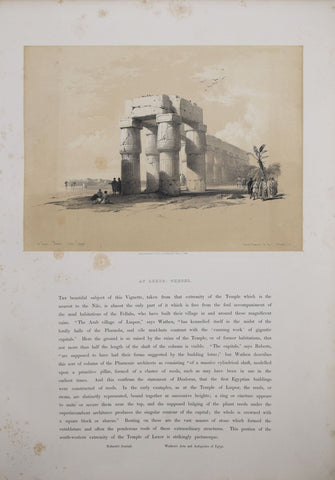 David Roberts (1796-1864),  View at Luxor, Thebes