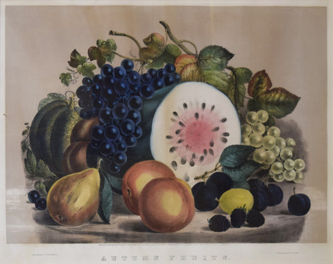 Nathaniel Currier (1813–1888) and James Merritt Ives (1824–1895), Autumn Fruits