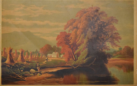 Unknown Artist, Autumn on the Kennebec Maine