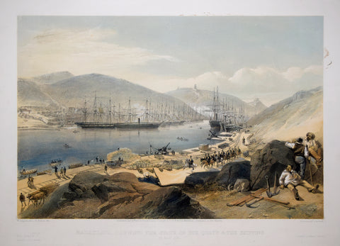 William Simpson (1823-1899), Illustrator, Balaklava Shewing the State of the Quays and the Shipping