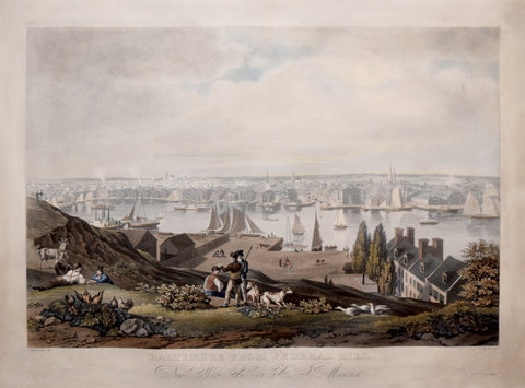 William James Bennett (1787-1844),  Baltimore from Federal Hill