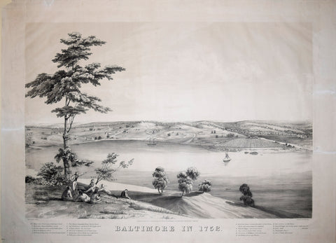 John Bachmann (1790-1874), after, Baltimore in 1752