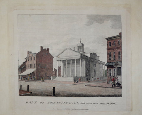 William Birch (1755-1834), Bank of Pennsylvania, South Second Street Philadelphia