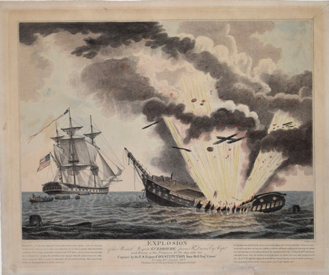 John James Barralet (1747-1815), after, Explosion of the British frigate Guerriere