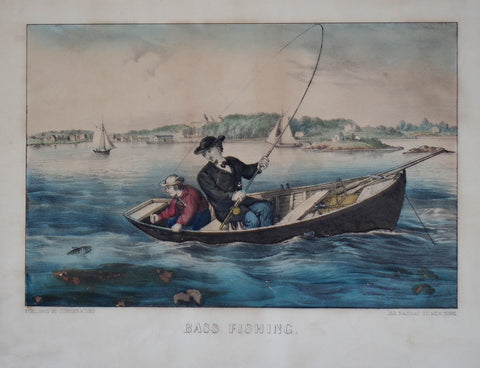 Nathaniel Currier (1813-1888) & James Ives (1824-1895), Bass Fishing