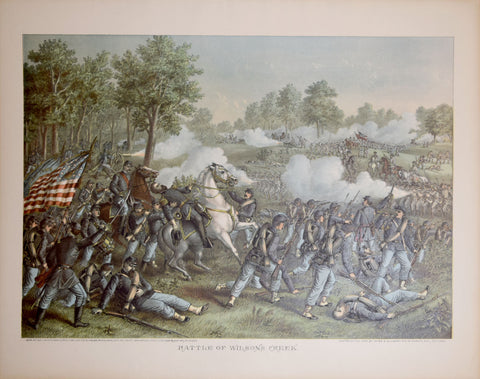 Louis Kurz  (1834-1921) & Alexander Allison (ca. 1799-1862), Battle of Wilsons Creek