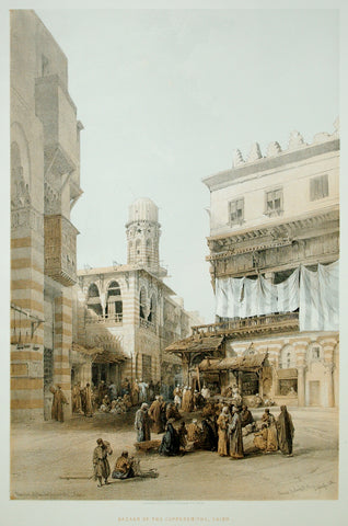 David Roberts (1796-1864), Bazaar of the Coppersmiths Cairo