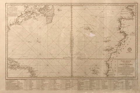Jacques Nicolas Bellin (French, 1703-72), Carte Reduite d'une Partie de l'Ocean Atlantique ou Occidental.