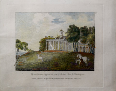 William Birch (1755–1844), Mount Vernon, Virginia, the Seat of the Late Gen. George Washington