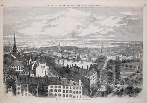 A. R. Hill, delineated, Bird's Eye View of the city of Boston