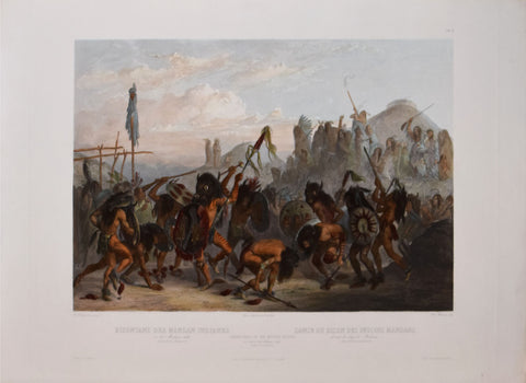 Karl Bodmer (1809-1893), Bison Dance of the Mandan Indians