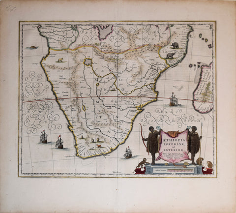 Willem Janszoon Blaeu (Dutch, 1571-1638), Aethiopia Inferior vel Exterior… [Mozambique and South Africa]