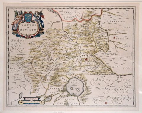 Joan Blaeu (Dutch, 1596-1673), Territorio di Orvieto [Orvieto region of Italy]