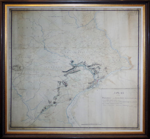Charles Blaskowitz (c.1743- 1823), A Plan of the Progress of the Royal Army from their Landing at Elk Ferry to Philadelphia 1777...