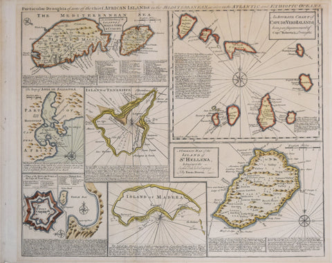 Emanuel Bowen (English, 1693?-1767), Particular Draughts of some of the chief African Islands in the Mediterranean, as also in the Atlantic and Ethiopic Oc