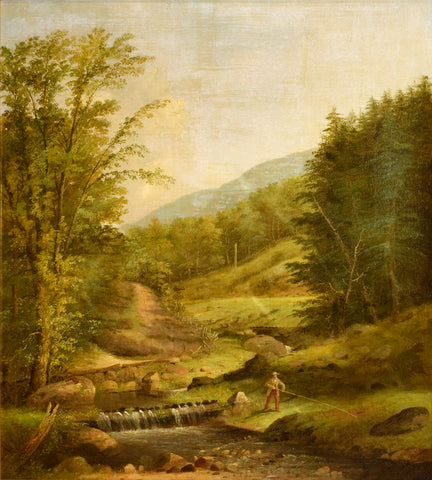 George Henry Durrie (1820-1863) Untitled, (Rural Fishing Scene)
