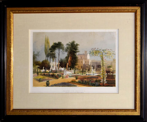 E. Adveno Brooke (fl. 1844-1864), The Parterre in the Gardens at Wilton