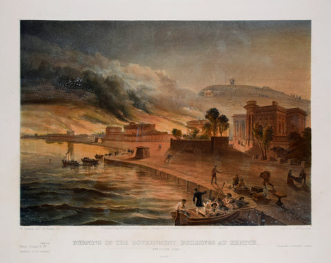 William Simpson (1823-1899), Illustrator, Burning of the Government Buildings at Kertch